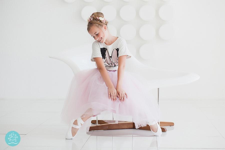маленькая балерина студийная съемка